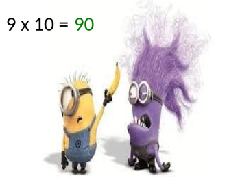 Minions Around the World Multiplication Facts 1-12