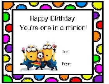 Minions Birthday Pack