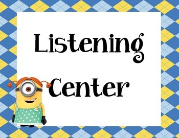 Minions Center Signs