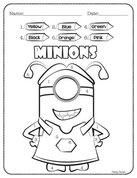 Minions - Craft and Activities