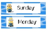 Minions Days and Months Cards