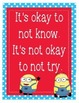 """Minions Despicable Me Growth Mindset Posters - 8.5""""x11"""", 18""""x24"""" -Ready to Print"""