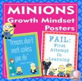 "Minions Despicable Me Growth Mindset Posters - 8.5""x11"", 1"