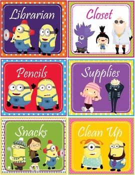 Minions Despicable Me Theme Classroom Jobs - EDITABLE