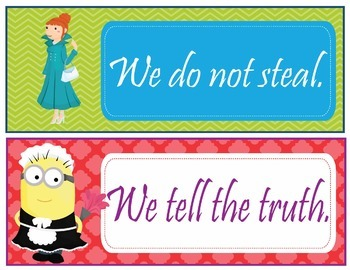 Minions Despicable Me Theme Classroom Rules - EDITABLE