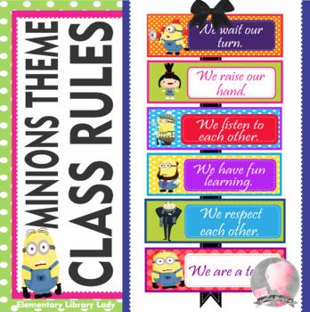 Minion classroom rules teaching resources teachers pay teachers minions despicable me theme classroom rules editable toneelgroepblik Images
