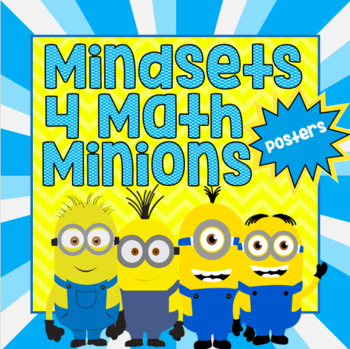 Minions Mathematical Mindsets Posters