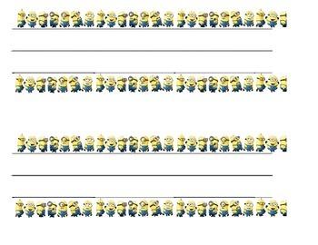 Minions Nameplates (Editable Word Doc)