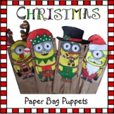 Christmas Crafts - Minions Paper Bag Puppets
