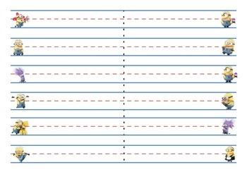 Minions Sentence Stips / Handwriting / Word Wall