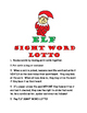 Elf Sight Word Lotto Read and Write High Frequency Words RF.1.3g L.1.2d