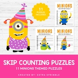Minions Inspired 2 to 12 Skip Counting Puzzles
