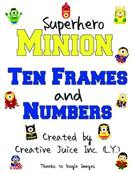Minions Ten Frames and Numbers