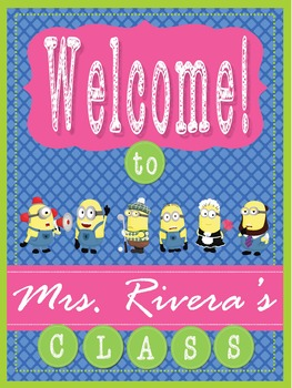 Minions Theme - EDITABLE Welcome Poster - 18 x 24
