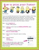 """Minions Theme-EDITABLE Welcome Poster- 18""""x24"""", 8.5""""x11"""" -Ready for Printing"""