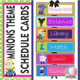 Minions Theme Schedule Cards - EDITABLE