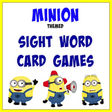 Minions Themed Sight Words Card Games