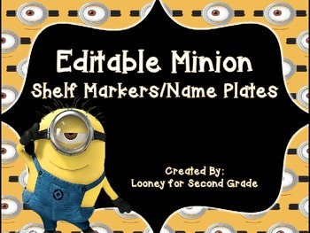 Minions Themed Student Tags