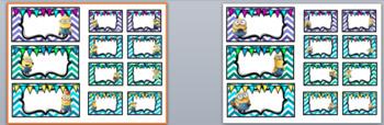 Minions Toolbox Labels