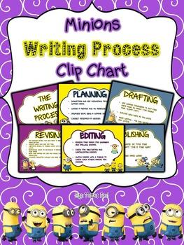 Minions Writing Process Clip Chart
