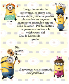 Minions invitation Editable!!!