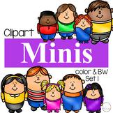 Minis Set 1 {Kid Clipart}