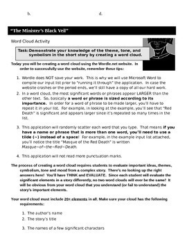 Minister's Black Veil Activity Pack, Nathaniel Hawthorne, Theme