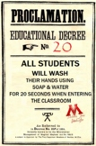 Harry Potter Ministry of Magic Handwashing Proclamation