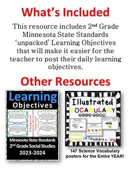 Minnesota 2nd Grade Learning Objective Standards Cards | Science