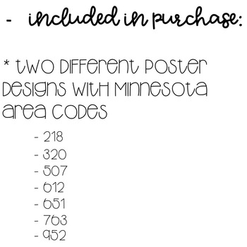 Minnesota Area Code Decor Posters