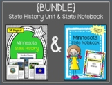Minnesota {BUNDLE} State History Unit and State Notebook S