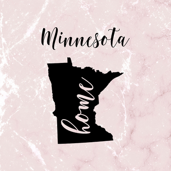 Minnesota Clipart, USA State Vector Clipart, Minnesota Home, Gold US Clipart