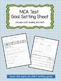 Minnesota Comprehensive Assessment (MCA) Goal Setting Worksheet