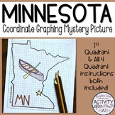 Minnesota Coordinate Graphing Picture 1st Quadrant & ALL 4