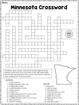Minnesota Crossword Puzzle