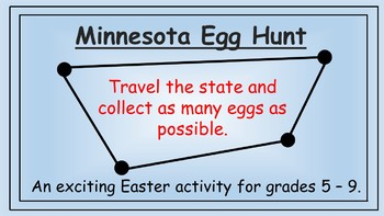 Minnesota Easter Math Activity