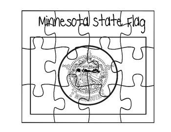 Minnesota Flag Puzzle