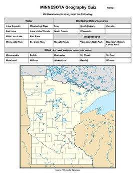 Minnesota Geography Quiz