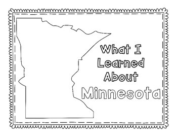Minnesota Graphic Organizers (Perfect for KWL charts and geography!)