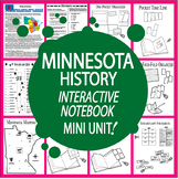 Minnesota History–Interactive Notebook Minnesota State Study Unit + AUDIO!