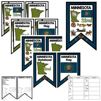 Minnesota History Word Wall, State Profile, Activity Pages