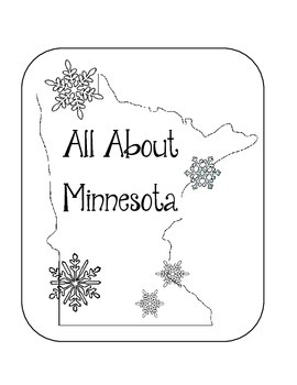Minnesota Lapbook/Interactive Notebook.  US State History and Geography