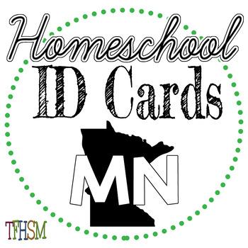 Minnesota (MN) Homeschool ID Cards for Teachers and Students