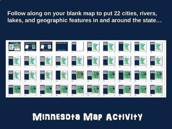 Minnesota Map Activity- fun, engaging, follow-along 20-slide PPT
