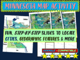 Minnesota Map Activity- fun, engaging, follow-along 20-slide PPT