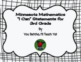 "Minnesota Mathematics Standards for 3rd Grade ""I Can"" Statements"