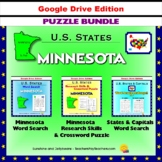 Minnesota Puzzle BUNDLE - Word Search & Crossword Activities- US States - Google