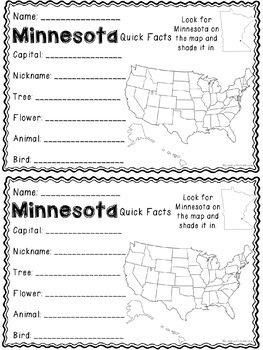 Math about Minnesota State Symbols through Multiplication Practice
