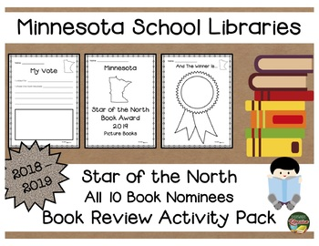 Minnesota Star of the North Book Award 18 - 19  Book Review Activity Pack