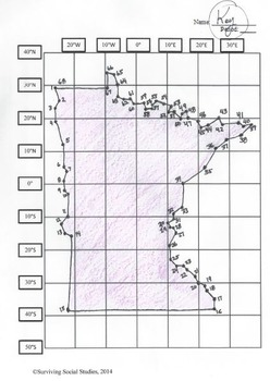 Minnesota State Latitude and Longitude Puzzle - 68 Points to Plot